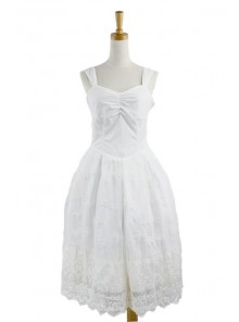 Sweet White Lace Cute Lolita Dress