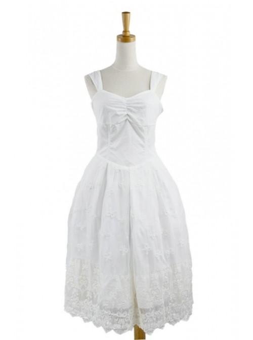 Sweet White Lace Cute Lolita Dress