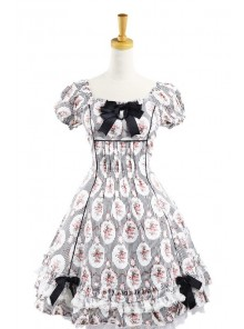 Sweet Charlotte Black Cotton Short Sleeves Womens Lolita Dress