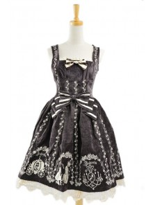 Brown Velvet Bow Lace Classic Lolita Dress