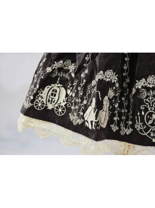 Brown Velvet Bow Lace Classic Lolita Dress