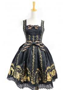 Black Velvet Bow Lace Classic Lolita Dress