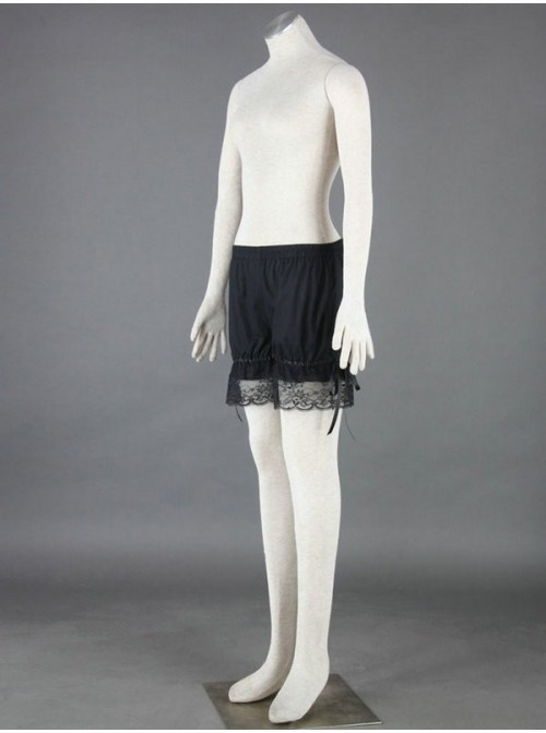 Black Cute Cotton Lace Lolita Bloomers