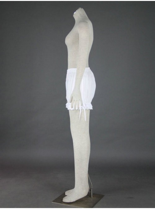 White Lovely Cotton Lace Lolita Bloomers