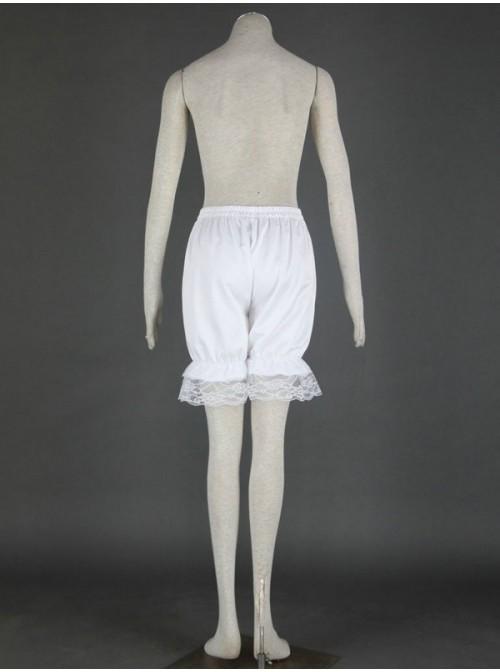White Beautiful Cotton Lace Lolita Bloomers