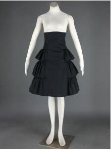Black Beautiful Lace Cotton Lolita Skirt