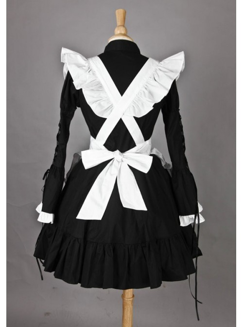 Long Sleeves Lovely Cotton Cosplay Maid Costume