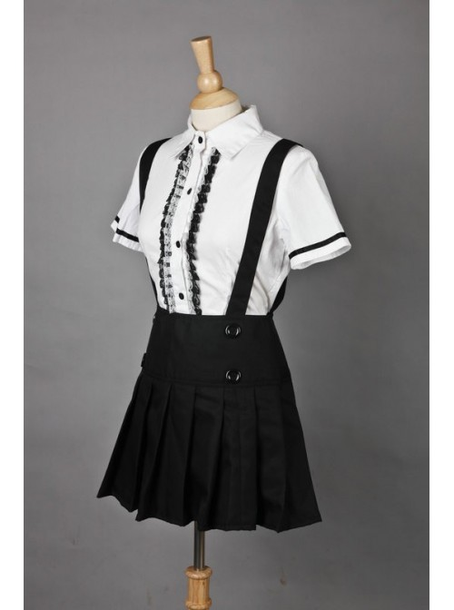 Short Sleeves Cotton Sweet Cosplay Maid Costume
