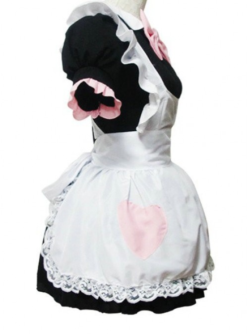 Short Sleeves Cute Cotton Cosplay Maid Costume