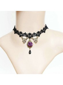 Black Sexy Lace Lolita Necklace