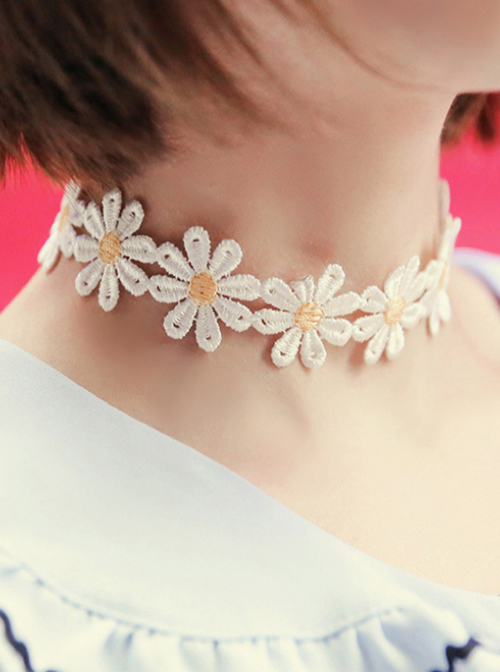 Concise Cute Small Daisy Sweet Lolita Necklace