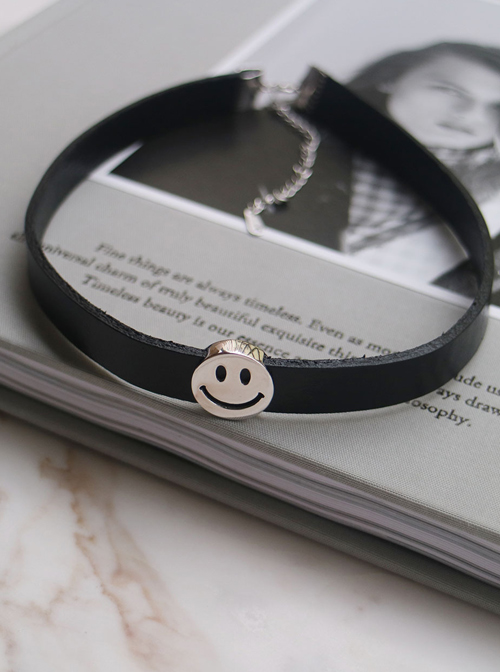 Smiling Face Chic Black Lolita Necklace