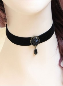Gothic Black Rose Lolita Necklace