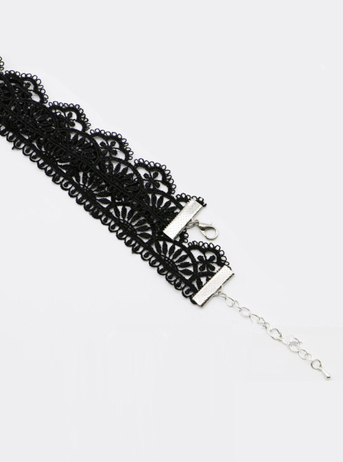 Black Retro Lace Lady Lolita Necklace