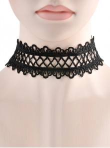 Gorgeous Black Delicate Lace Lolita Necklace
