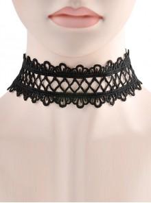 Gorgeous Black Delicate Lace Lolita Necklace
