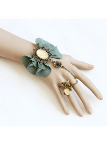 Beautiful Green Handmade Lolita Bracelet And Ring Set