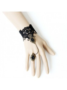 Gothic Lace Handmade Lolita Bracelet And Ring Set