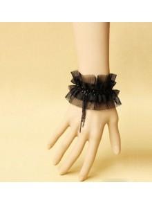 Concise Black Tassel Handmade Lolita Wrist Strap
