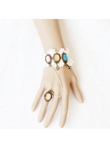 Romantic Western Style Handmade Lolita Bracelet And Ring Set