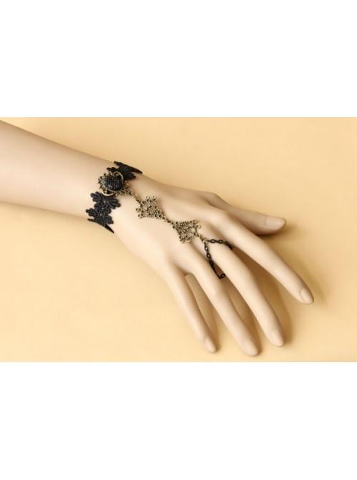 Romantic Black Lace Handmade Lolita Wrist Strap
