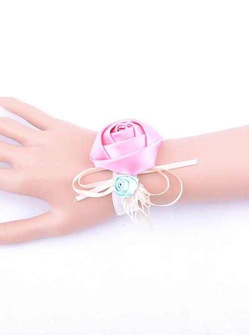 Sweet Victorian Rose Lady Lolita Wrist Strap
