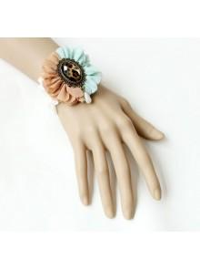 Retro Leopard Print Gemstone Lady Lolita Wrist Strap