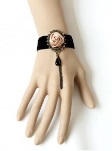 Elegant Concise Black Lady Lolita Bracelet And Ring Set