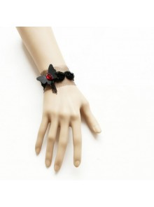 Cute Black Butterfly Little Girls Lolita Wrist Strap