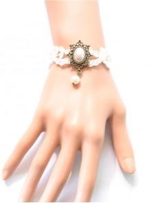 Sweet Retro White Lace Lolita Wrist Strap