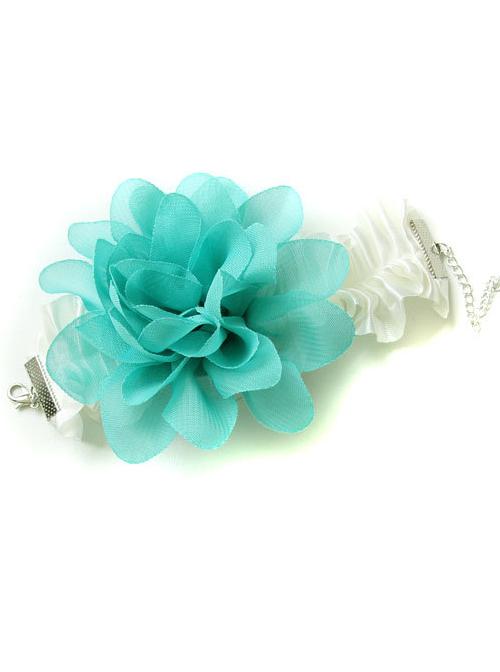 Retro Green Flower Handmade Lolita Wrist Strap