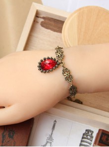 Retro palace Red Gem Pendant Lolita Bracelet