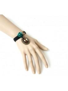 Retro Rose Lady Leopard Print Handmade Lolita Wrist Strap