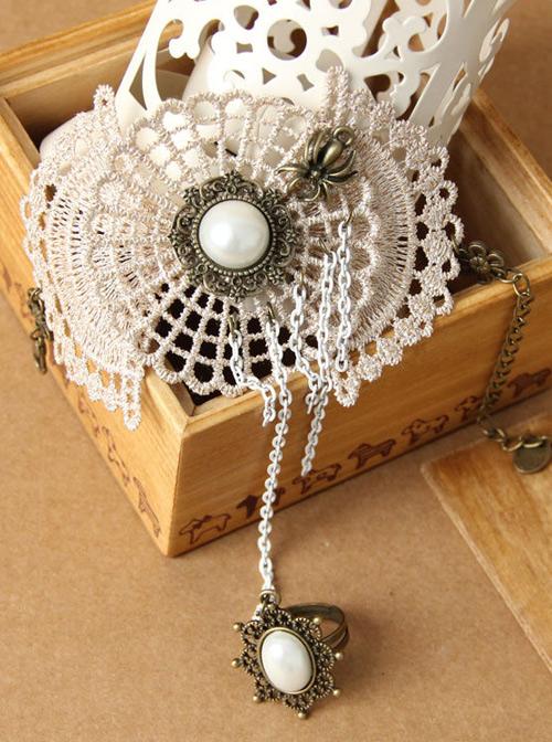 Retro Lace Cobweb Lady Lolita Wrist Strap