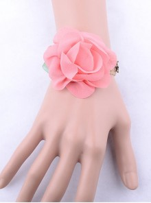 Cute Pink Floral Little Girls Lolita Wrist Strap