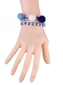 Elegant Blue Bead Chain Lolita Wrist Strap