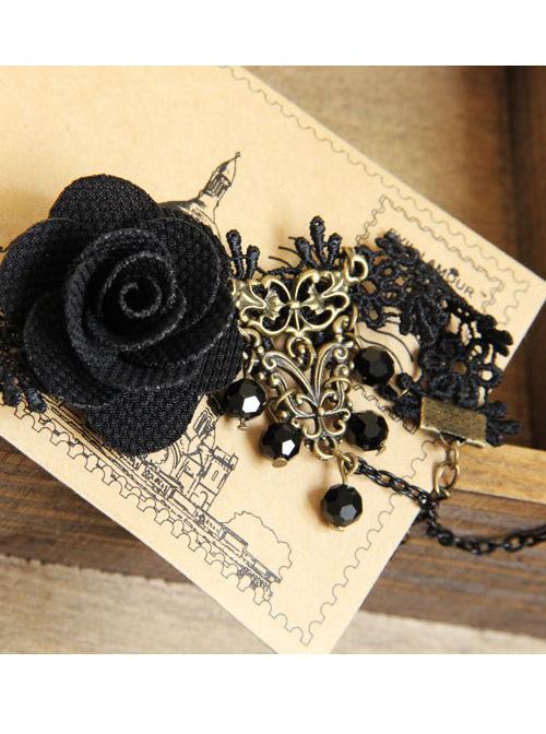 Classic Rose Bead Chain Lady Lolita Wrist Strap