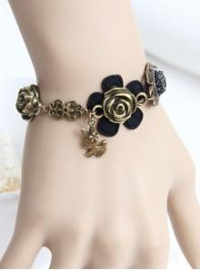 Retro Floral Girls Lolita Wrist Strap