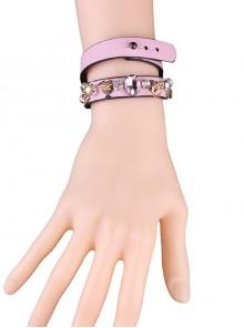 Concise Pink Lolita Wrist Strap