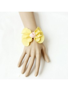 Sweet Yellow Floral Rose Lolita Wrist Strap