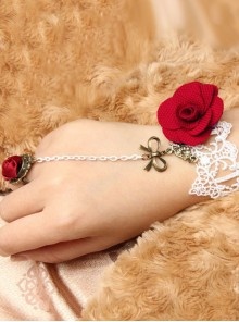 Charming Lace Fashion Lady Lolita Bracelet And Ring Set