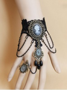 Black Lace Chain Fashion Girls Lolita Wrist Strap
