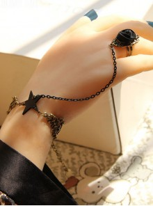 Star Chain Lady Lolita Bracelet And Ring Set