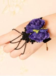 Gothic Black Chain Tassel Lady Lolita Wrist Strap