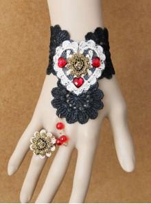 Sexy Black Lace Gothic Lady Lolita Wrist Strap
