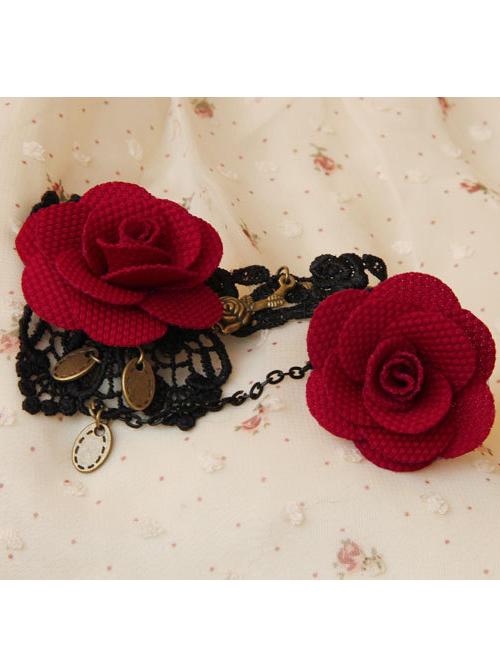 Gorgeous Lace Floral Lady Lolita Bracelet And Ring Set