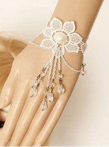 White Lace Flower Wedding Lady Lolita Wrist Strap