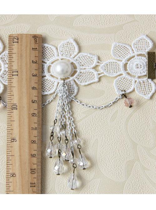 White Lace Flower Wedding Lady Lolita Wrist Strap