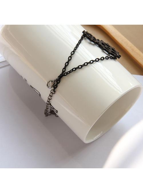 Fashion Chain Gears Decoration Lolita Wrist Strap