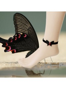 Gothic Black Bowknot Lady Lolita Ankle Belt